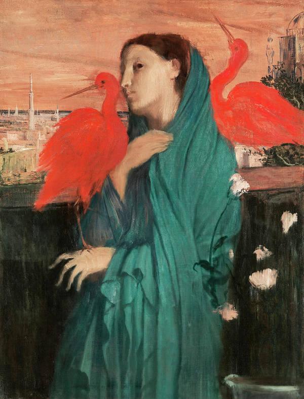 Edgar Degas Young Woman With Ibis