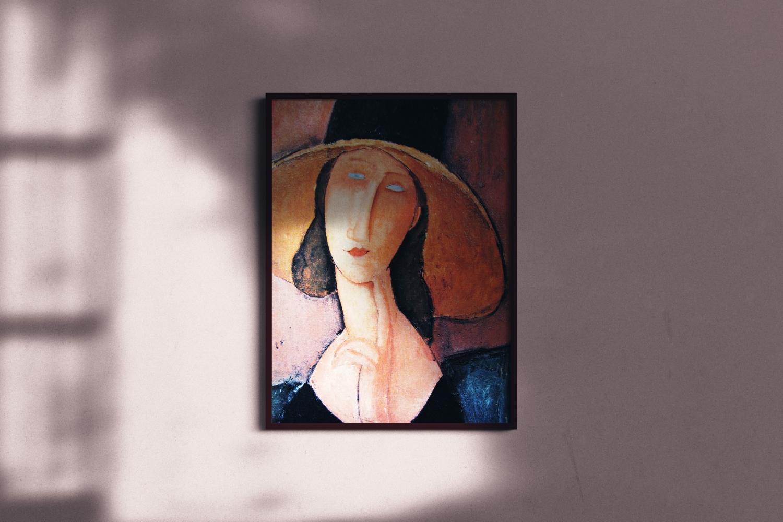 Modigliani Jeanne Hebuterne In A Large Hat