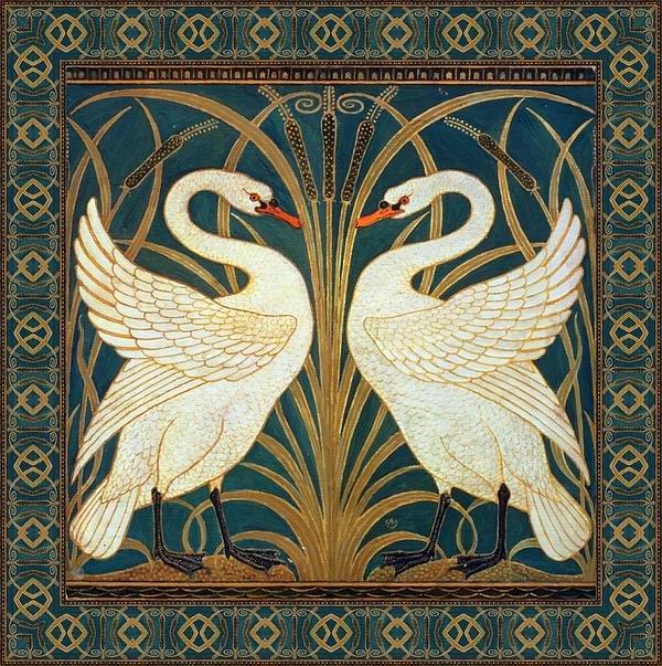 two-swans-walter-crane